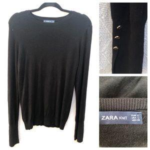 ZARA Knit Lightweight Black Sweater